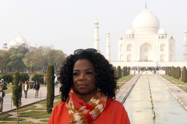 Oprah travels to India for the first time