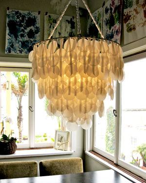 Paper chandeliers