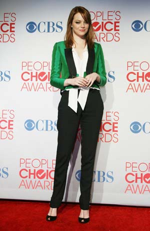 Emma Stone at the People's Choice Awards