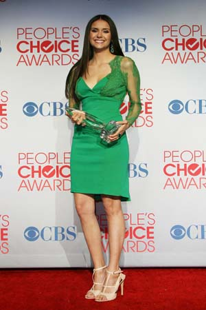 Nina Dobrev at the People's Choice Awards