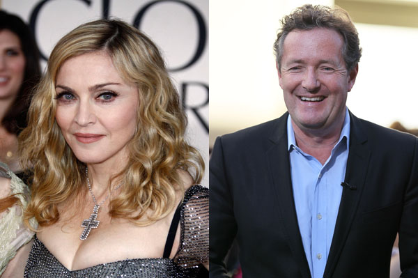 Piers Morgan and Madonna are feuding