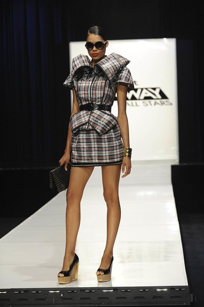 Project Runway All Stars: Rami's dress on the runway