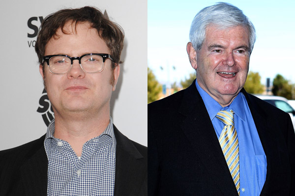 Rainn Wilson totally looks like Newt Gingrich