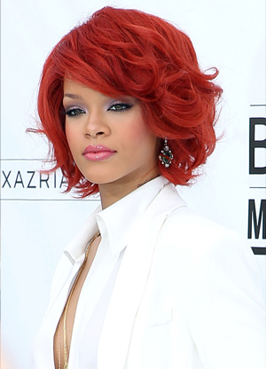 Rihanna's red hair