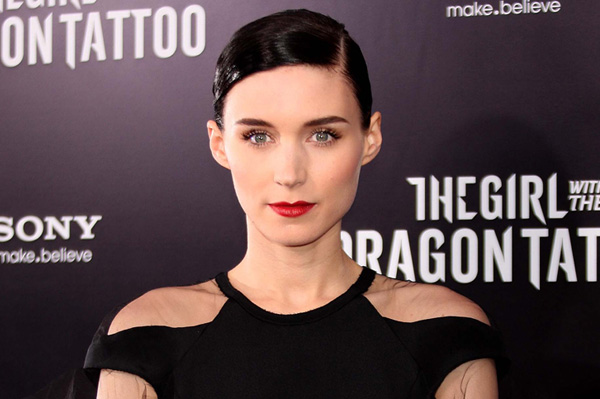 Rooney Mara at The Girl with the Dragon Tatto
