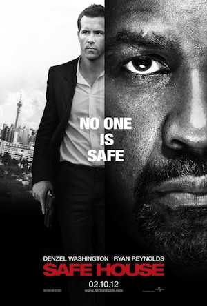 Hot! Ryan Reynolds movie poster for Safe House.