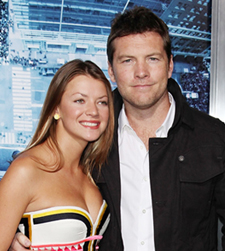 Sam Worthington and Crystal Humphries at Man on the Ledge premiere