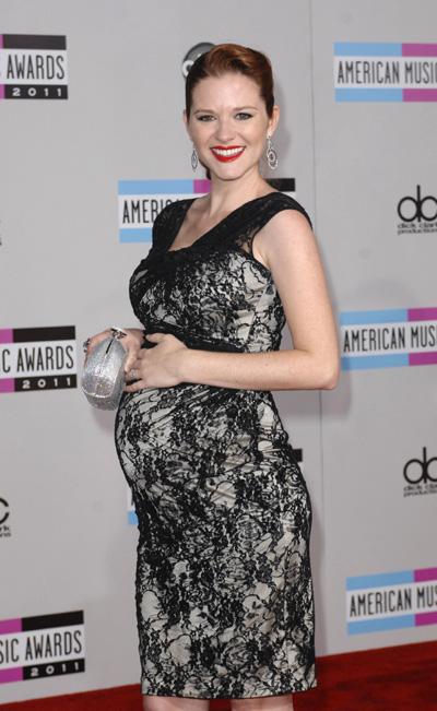 Pregnant Sarah Drew