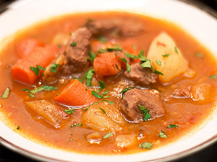Stay warm with this chunky beer stew