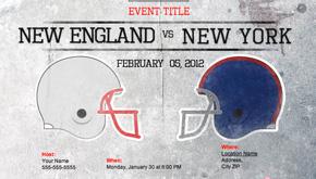 Super Bowl Evite