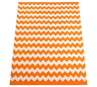 Zigzag printed rug