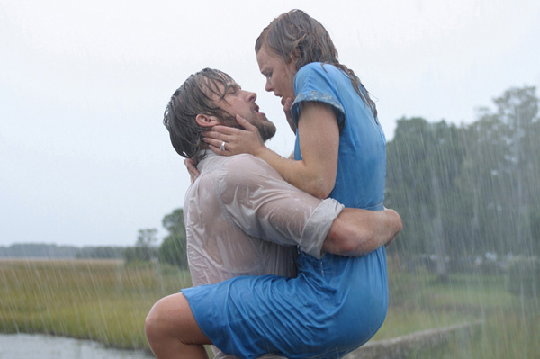 Kissing scene from The Notebook