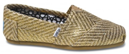 TOM'S Gilded Herringbone shoes