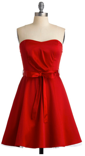 ultra-cute strapless dress (modcloth.com, $50) 