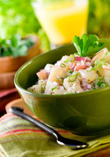 Warm and creamy potato salad