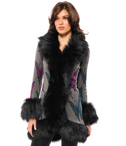 Artfully edgy - Betsey Johnson coat
