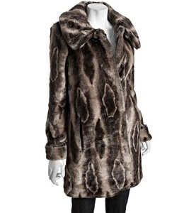 Hilary Radley faux fur coat