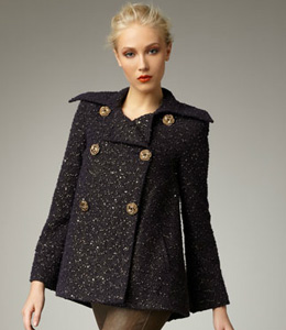Subtle sparkle - Alice + Olivia pea coat