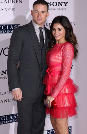 Channing Tatum and his wife Jenna at The Vow movie premiere