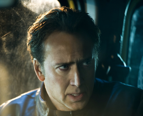 Close up of Nic Cage in Ghost Rider: SOV