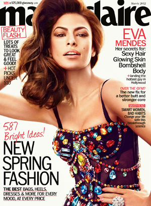 Eva Mendes in Marie Claire