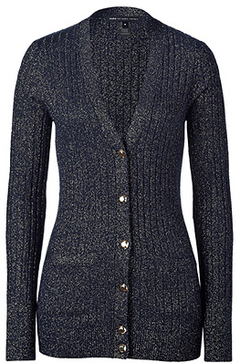 Normandy blue and gold lurex Marc by Marc Jacobs cardigan