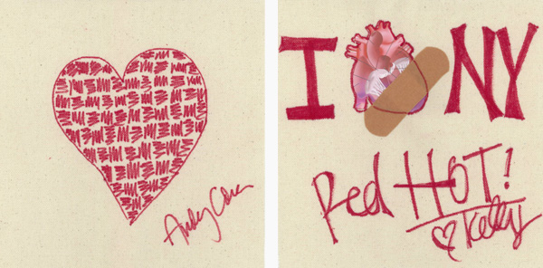 Andy Cohen and Kelly Bensimon's drawings