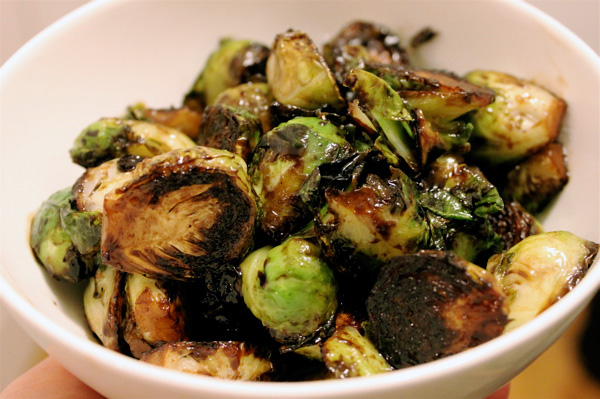 Brussels sprouts with balsamic reduction