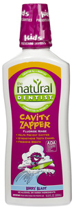 Natural Dentist Cavity Zapper Berry Blast Flouride Rinse