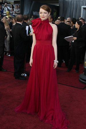 Oscars Best Dressed -- Emma Stone