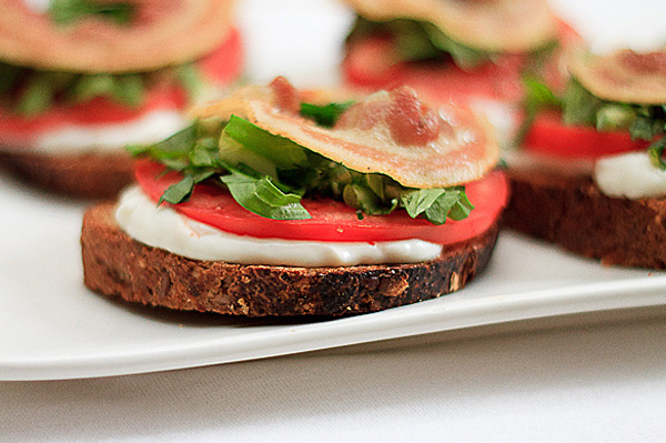 BLT tartine, an open-faced sandwich