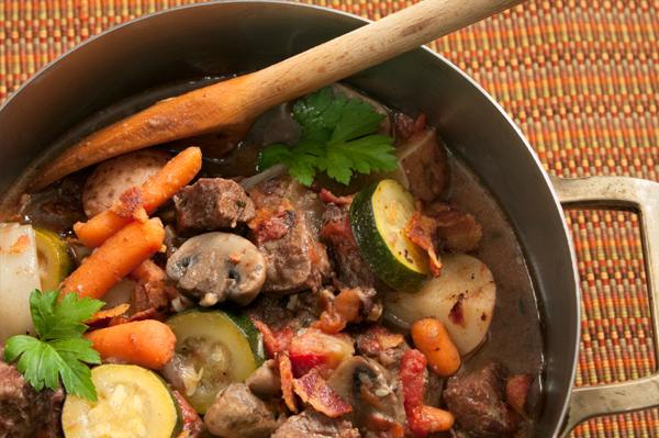 braised beef vegetables