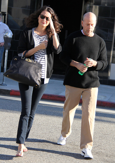 Bruce Willis and pregnant wife Emma Heming