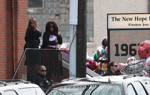 Chaka Khan at Whitney Houston's funeral