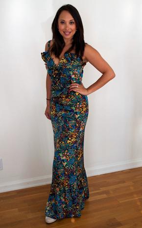 Cheryl Burke wearing Karen Zambos