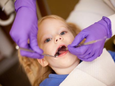 Child at first dental visit