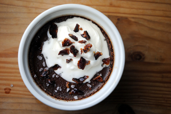 Spiced chocolate pots de crème for Valentine's Day
