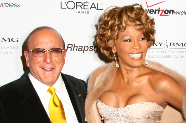 Whitney Houston with longtime producer Clive Davis