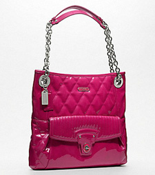 Coach poppy liquid gloss slim tote, $298