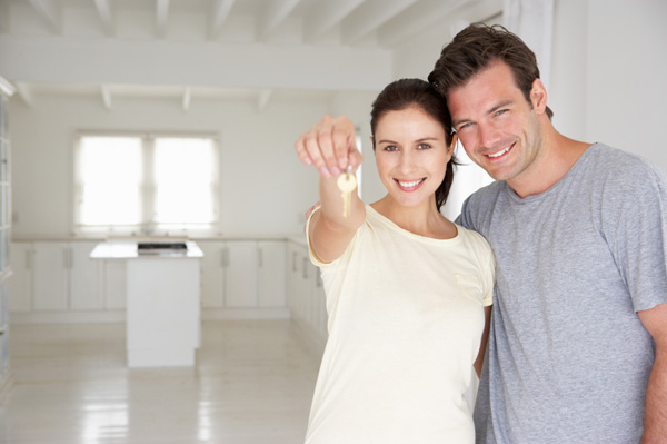 Couple in brand new home
