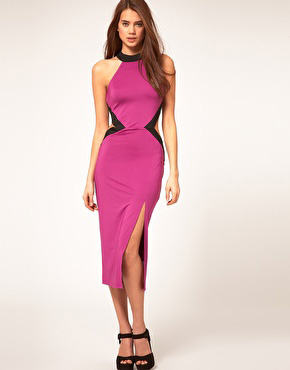 Cut out pink dress