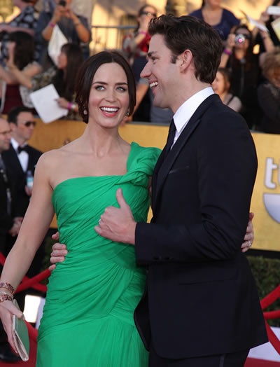 John Krasinski and Emily Blunt two years after their wedding