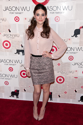 Emmy Rossum at Jason Wu for Target event