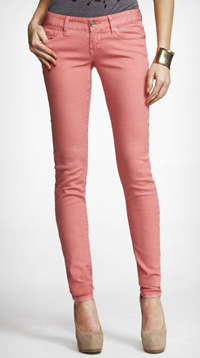 spiced guava colored jean leggings