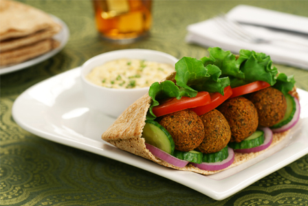 Falafel sandwich