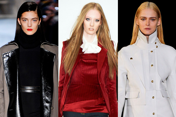 Fashion week trends -- red lips, smokey eyes, boyish