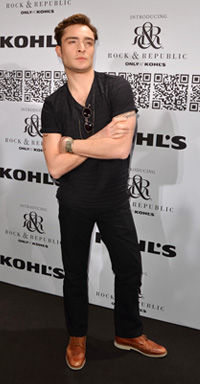 Ed Westwick at the Rock & Republic For Kohl's Fashion Show