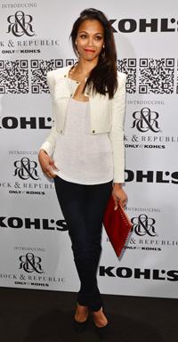 Zoe Saldana at the Rock & Republic For Kohl's Fashion Show