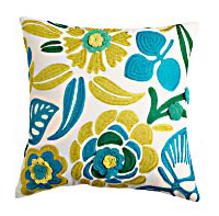 Bright colored pillow