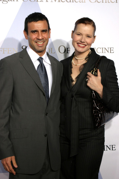 Geena Davis and husband